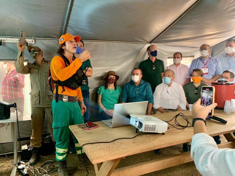 Meio Ambiente - Queimadas Diligência da Câmara dos Deputados visita áreas de queimadas no Pantanal