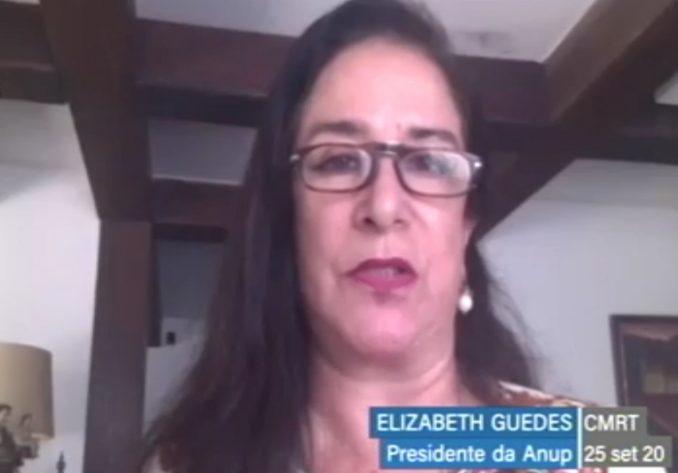 Elizabeth Guedes, presidente da Associação Nacional das Universidades Particulares, em reunião virtual da Comissão Mista da Reforma Tributária