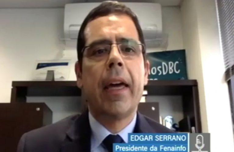 Edgar Serrano, presidente da Federação Nacional das Empresas de Informática, em reunião virtual da Comissão Mista da Reforma Tributária