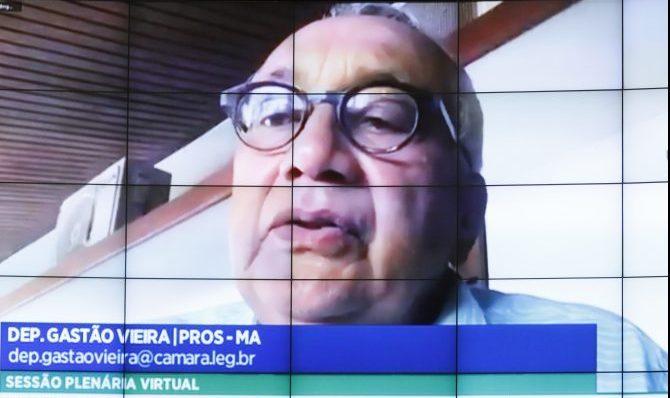 Deputado Gastão Vieira participa da sessão do Plenário por meio de teleconferência