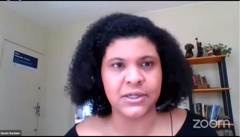 Gisele Barbieri participa de videoconferência