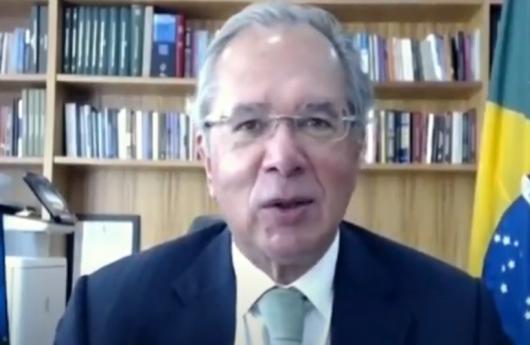 Ministro da Economia, Paulo Guedes, em reunião virtual da Comissão Mista