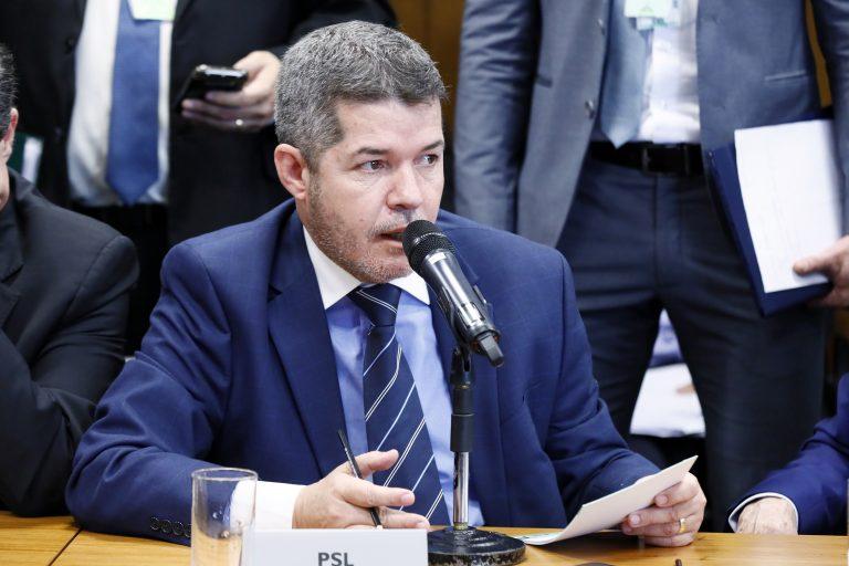 Deputado Delegado Waldir participa de reunião de comissão
