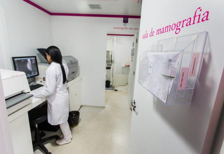 Sala de realização de mamografia