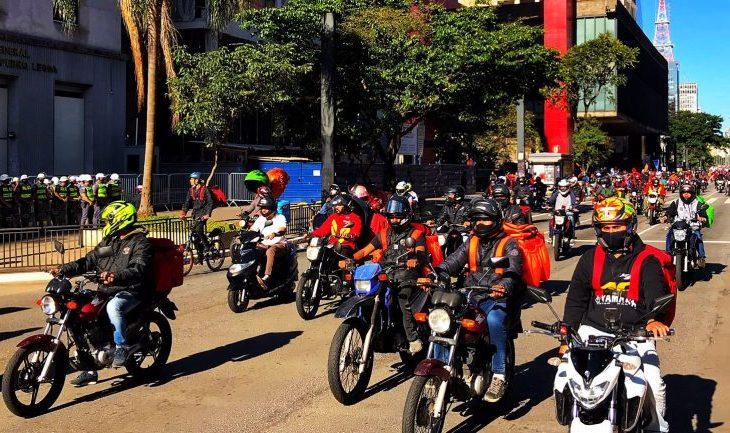 motoboys em protesto