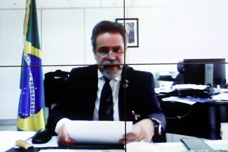 85ª Reunião Técnica por Videoconferência – Acordo e Medida Provisória relativos à adesão ao Covax Facility. Secretário Executivo do Ministério da Saúde, Coronel Élcio Franco