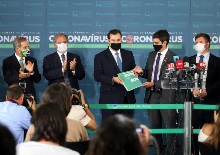 Entrevista coletiva da Frente Parlamentar da Reforma Administrativa. Presidente da Câmara dos Deputados, dep. Rodrigo Maia
