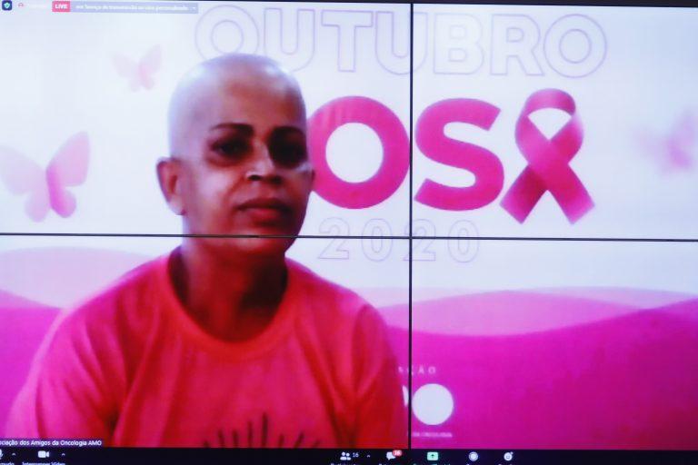 Outubro Rosa - Ciclo de Debates sobre Câncer de Mama. Paciente Oncológica de Aracajú/SE, Marcia Maria Fernandez da Cruz