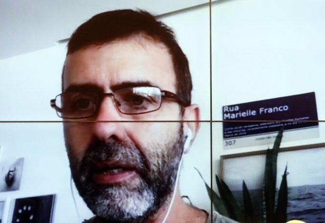 Dep. Marcelo Freixo (PSOL - RJ) em reunião virtual