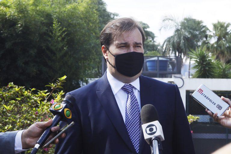 Presidente da Câmara dos Deputados, Rodrigo Maia (DEM-RJ), recebe o ministro do STJ, Nefi Coreiro