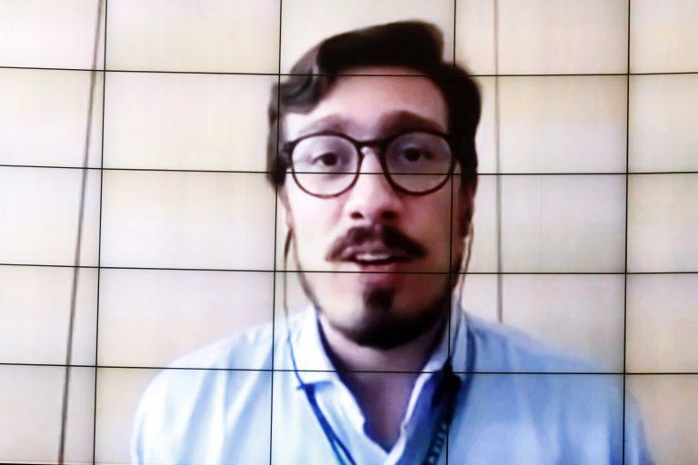 89ª Reunião técnica por Videoconferência – Acompanhamento dos ensaios clínicos da vacina Coronavac no Brasil. Gerente-Geral de Medicamentos e Produtos Biológicos da ANVISA, Gustavo Mendes Lima Santos