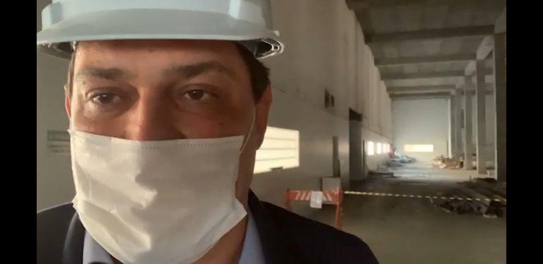 Geninho Zuliani visita obras da nova fábrica do Instituto Butantan, em SP