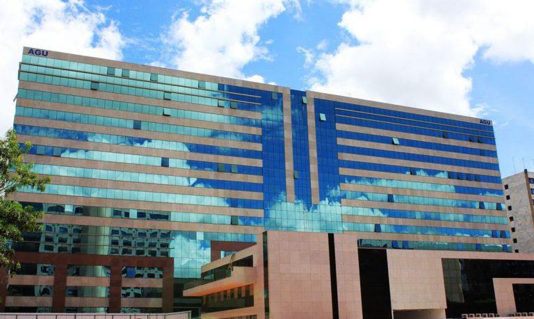 Fachada do prédio da Advocacia Geral da União em Brasília