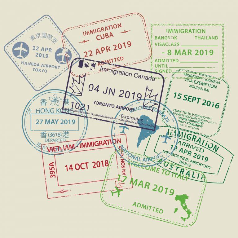 Relações Exteriores - geral - imigração emigração migrações passaportes vistos fronteiras países viagens internacionais internacional carimbos turismo turistas