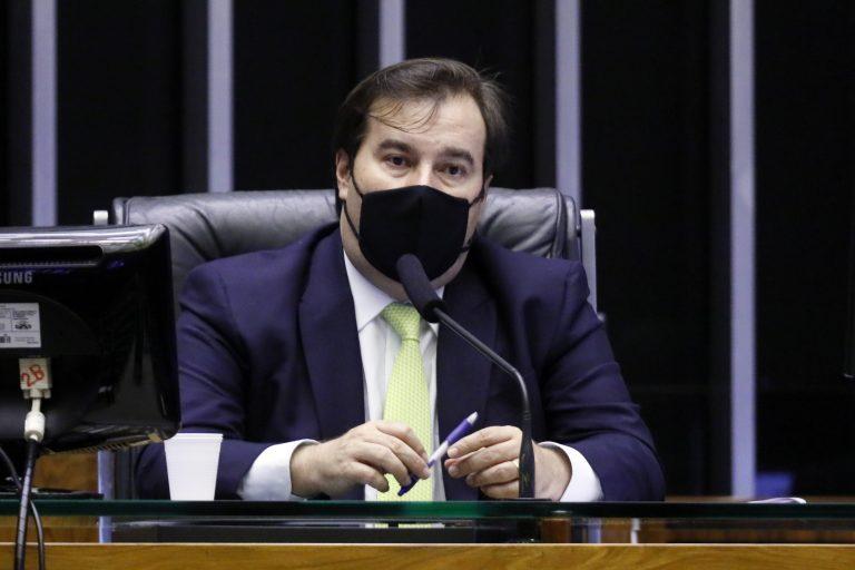 Votação de propostas. Presidente da Câmara dos Deputados, Rodrigo Maia
