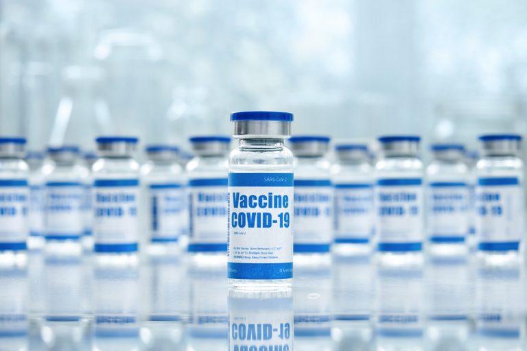 Frascos de vacina para Covid-19