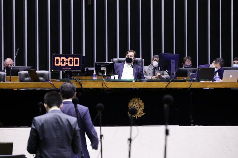 Presidente da Câmara dos Deputados, Rodrigo Maia, preside sessão de votações