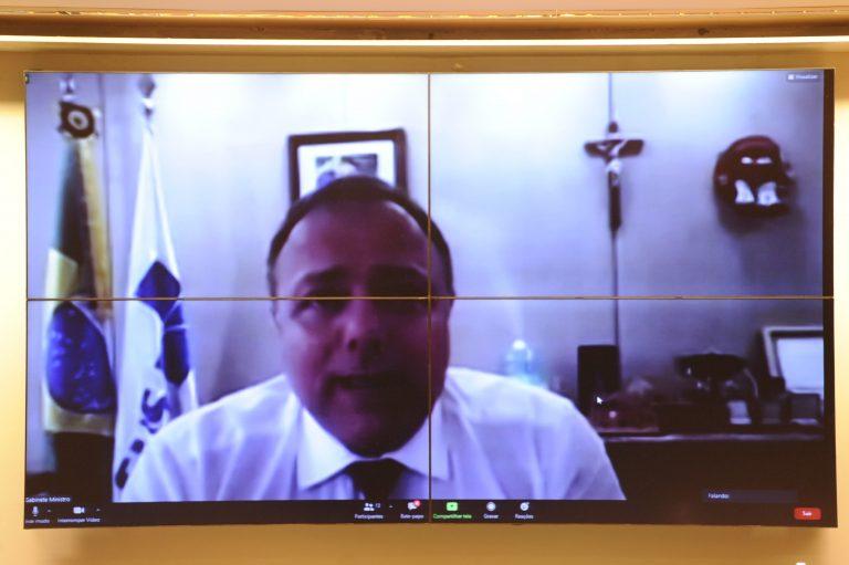 Ministro da Saúde, Eduardo Pazzuelo, participa de videoconferência