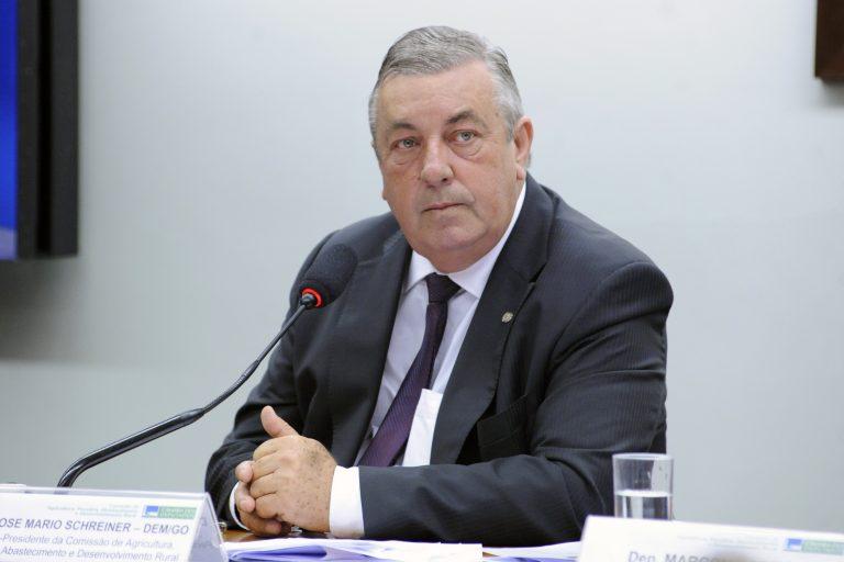 Reunião para esclarecer as possíveis repercussões para o comércio externo do agronegócio brasileiro de posicionamentos do Chanceler e do Governo na política externa. Dep. Jose Mario Schreiner (DEM-GO)