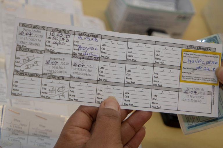 Saúde - geral - vacinas cartão de vacinação doenças sarampo febre amarela caxumba rubéola hepatite