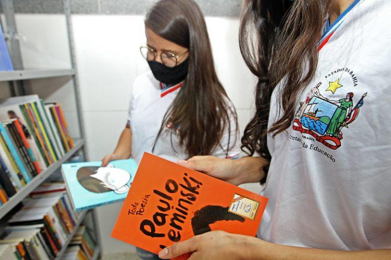 Educação - livros - leitura - biblioteca - escola pública - ensino público - escolas