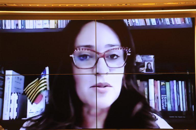 Reunião Técnica por videoconferência - O Programa Nacional de Imunização Contra a COVID19. Dep. Rejane Dias (PT - PI)