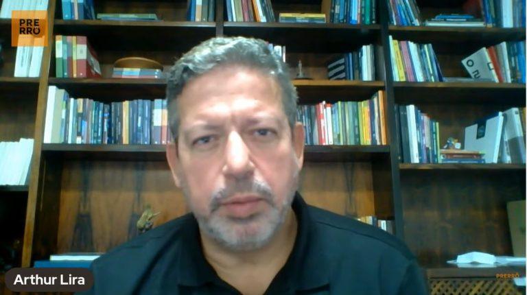 Deputado Arthur Lira durante entrevista on-line