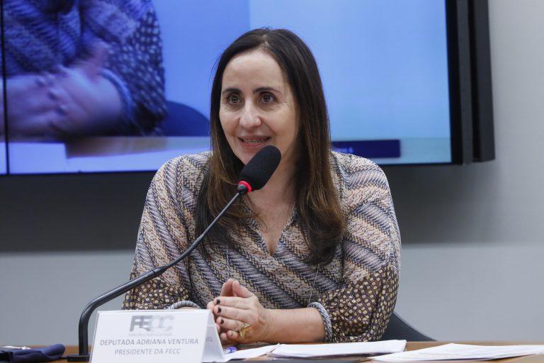 Rodada de entrevistas com candidatos à presidência da Câmara. Dep. Adriana Ventura(NOVO - SP)