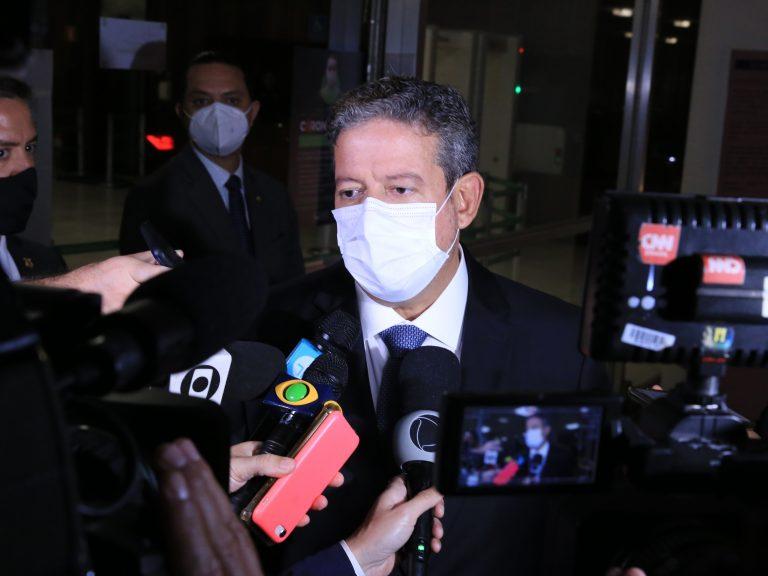 Presidente da Câmara dos Deputados, dep. Arthur Lira, concede entrevista