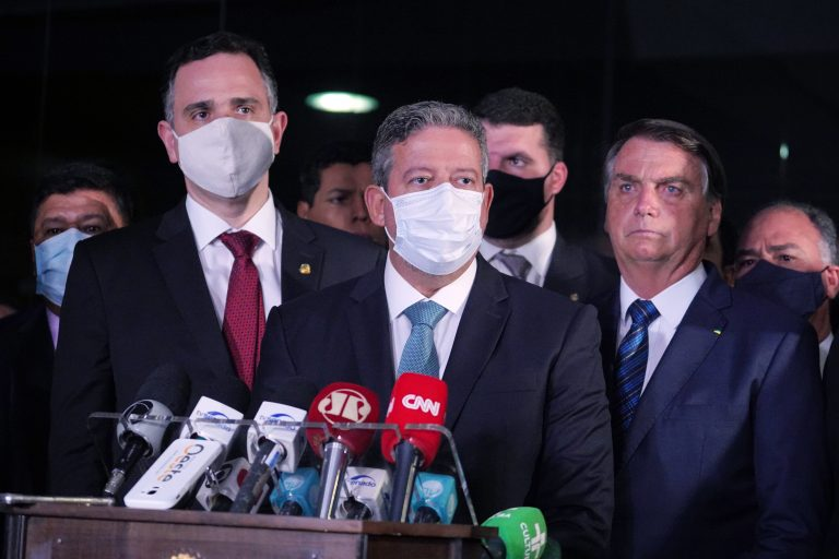 Entrega da Medida Provisória da Eletrobrás. Presidente da Câmara, dep. Arthur Lira (PP - AL)