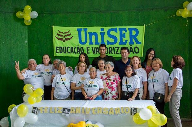 Evento pelo quarto aniversário da Uniser - Universidade do Envelhecer, ligado à Universidade de Brasília.