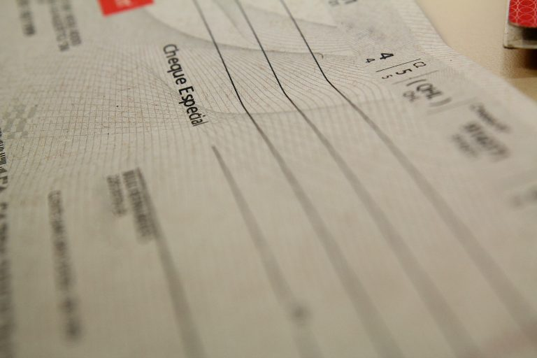 Folha de cheque
