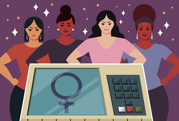 Ilustração mulheres candidatas; candidaturas femininas; eleições mulheres; voto feminino; votos mulheres