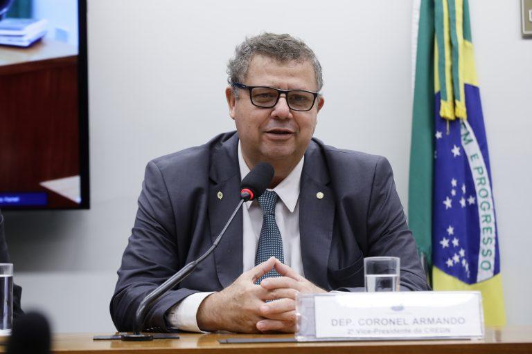 Instalação e Eleição do Presidente e Vice-Presidentes da Comissão. Dep. Coronel Armando (PSL - SC)
