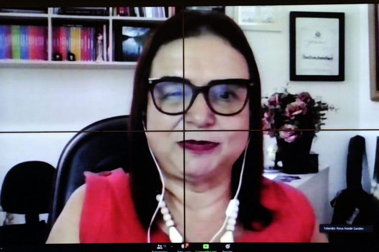 Professora Rosa Neide participa de reunião de comissão