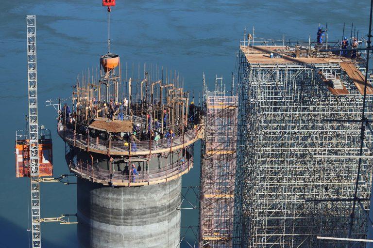 Construção da segunda ponte de Foz do Iguaçu (PR) entre Brasil e Paraguai