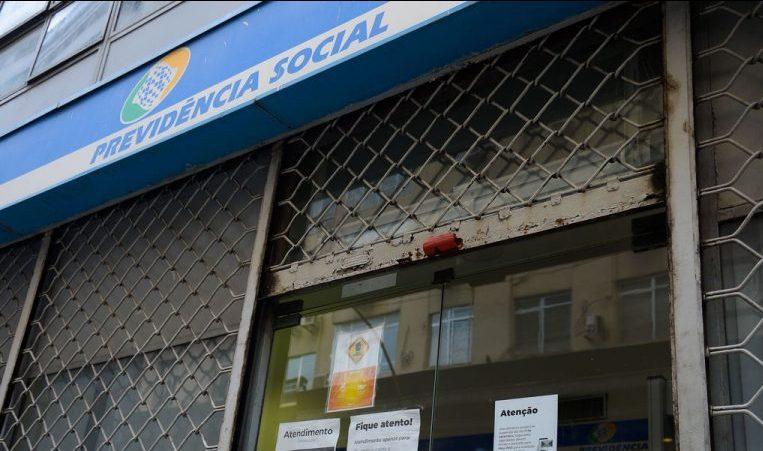 Fachada de Agência da Previdência Social