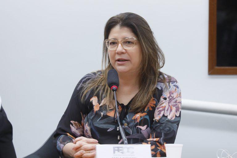 Rodada de entrevistas com candidatos à presidência da Câmara. Dep. Carla Dickson(PROS - RN)