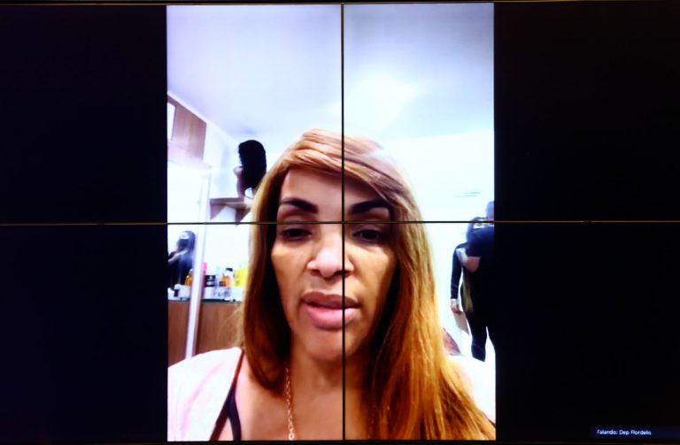 Dep. Flordelis (PSD - RJ) em videoconferência