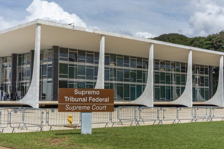 Brasília - monumentos e prédios públicos - Fachada do Supremo Tribunal Federal - STF - Justiça
