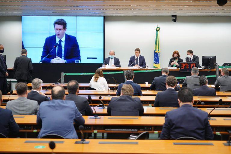 Reunião Extraordinária. Ministro do Meio Ambiente, Ricardo Salles