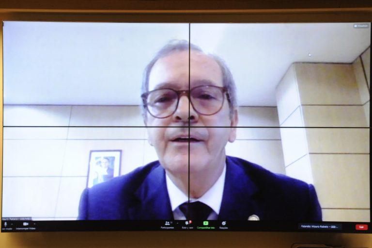 - Audiência Pública - Práticas exitosas no ensino remoto e a regulamentação do PL3477/2020. Secretário de Educação Básica do Ministério da Educação, Mauro Luiz Rabelo