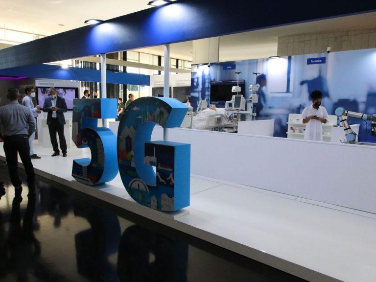 Tecnologia - Feira de C&T - 5g - Pesquisa e Inovação - Exposição de tecnologia 5G Digital Day no Salão Negro do Congresso Nacional