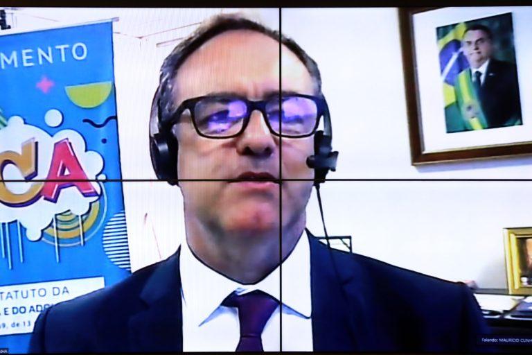 Audiência Pública - Monitoramento dos Impactos da COVID-19 na Infância. Secretário Nacional dos Direitos da Criança e do Adolescente, Maurício José Silva Cunha