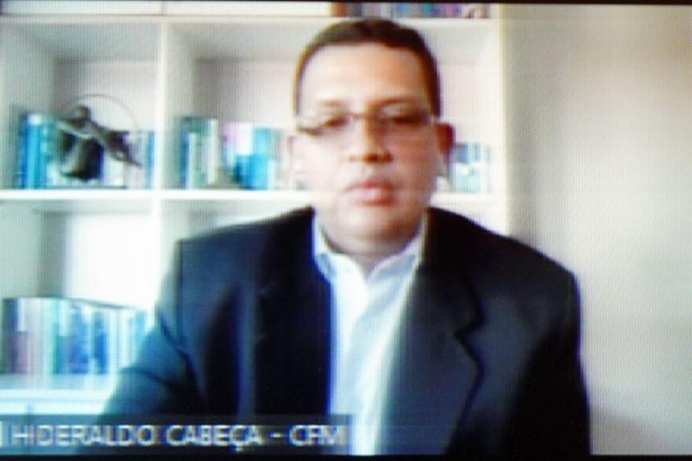 Audiência Pública - Debater Prescrição médica eletrônica. Conselheiro Federal - 1º Secretário do CFM, Hideraldo Luis Souza