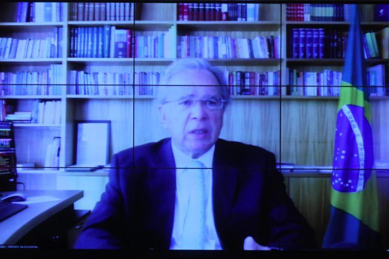 Reunião com a presença do Ministro da Economia, Paulo Guedes