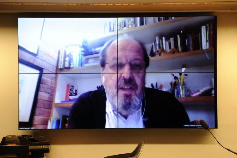Audiência Pública. Representante da Associação Brasileira das Empresas Aéreas - ABEAR, Eduardo Sanovicz
