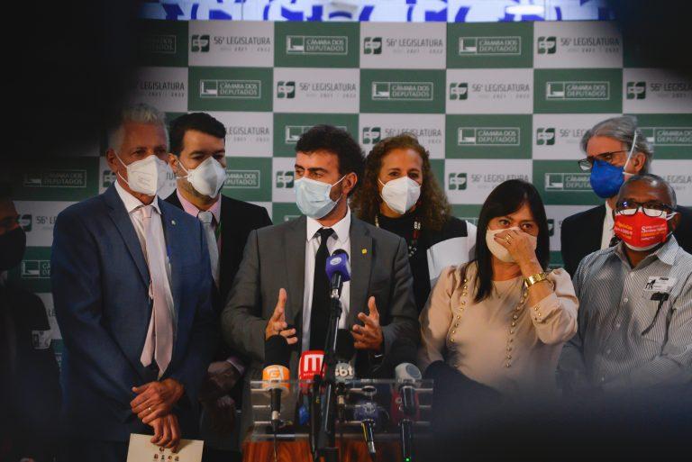 Líderes oposicionistas concedem entrevista após encontro com Lira