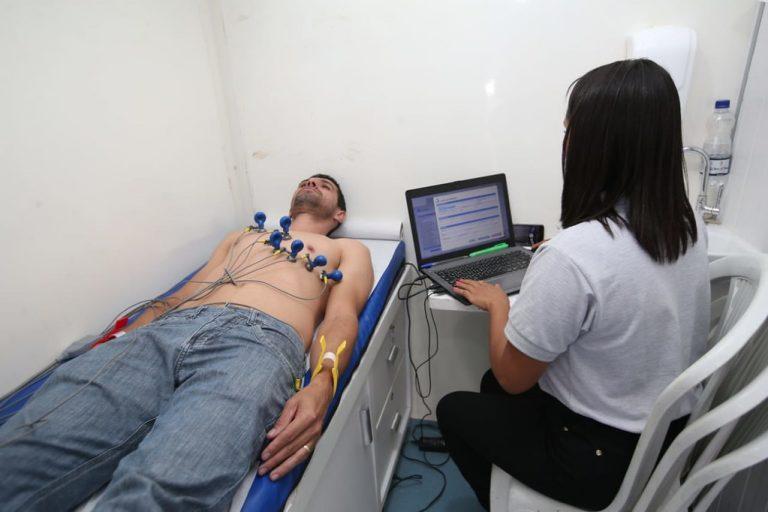exame de eletrocardiograma