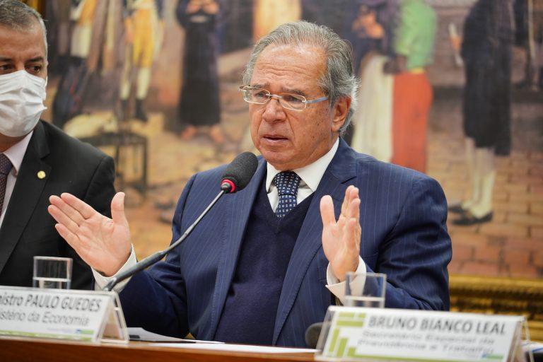 Esclarecimentos sobre distorções bilionárias em dados de Previdência. Ministro da Economia, Paulo Roberto Nunes Guedes